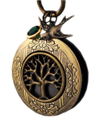 Schlüsselanhänger mit Lebensbaum-Medaillon handgemacht aus Messing
